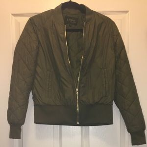 Jackets & Blazers - Army Green Bomber Jacket